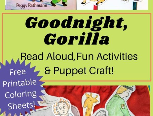 goodnight gorilla pinable image read aloud free printable puppet craft